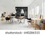 modern designer studio with...   Shutterstock . vector #640286515