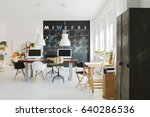 new design office with white... | Shutterstock . vector #640286536