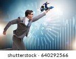 businessman in start up... | Shutterstock . vector #640292566