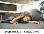 asian woman fainting while... | Shutterstock . vector #640292998