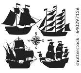 set of simple sketch... | Shutterstock .eps vector #640297126