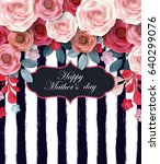 mother's day greeting card ... | Shutterstock .eps vector #640299076