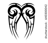 tribal tattoo art designs.... | Shutterstock .eps vector #640300042