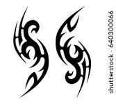 tribal tattoo art designs.... | Shutterstock .eps vector #640300066