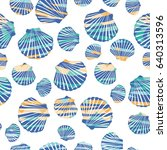 shell pattern  vector ... | Shutterstock .eps vector #640313596