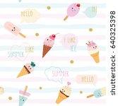 funny summer seamless pattern... | Shutterstock .eps vector #640325398