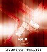 red stylish background   vector ... | Shutterstock .eps vector #64032811