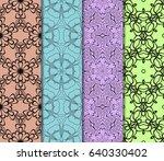 set of original geometric... | Shutterstock .eps vector #640330402