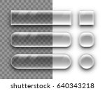 transparent glass buttons with... | Shutterstock .eps vector #640343218