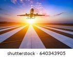 runway  airstrip in the airport ... | Shutterstock . vector #640343905