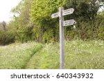 signpost. standard in the... | Shutterstock . vector #640343932