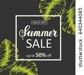 summer sale poster. special...   Shutterstock .eps vector #640344085
