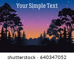 night landscape  forest ... | Shutterstock .eps vector #640347052