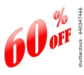 60  discount sale sign. red on... | Shutterstock .eps vector #640347466