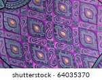 Pattern of Thai art wall in temple Thailand - stock photo