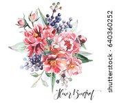 flower bouquet | Shutterstock . vector #640360252
