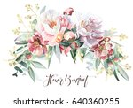 flower bouquet | Shutterstock . vector #640360255