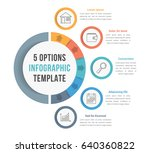 5 options infographic template... | Shutterstock .eps vector #640360822