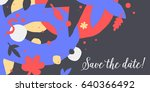vector background template with ... | Shutterstock .eps vector #640366492