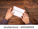 sending a letter | Shutterstock . vector #640368406