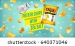 Potato Chips Ads. Vector...