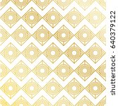 golden seamless pattern... | Shutterstock .eps vector #640379122