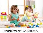 little kids preschoolers... | Shutterstock . vector #640380772