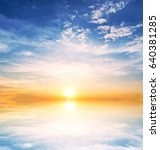 background sky during sunset... | Shutterstock . vector #640381285