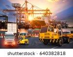 logistics and transportation of ... | Shutterstock . vector #640382818