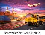 logistics and transportation of ... | Shutterstock . vector #640382836