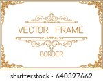 gold photo frame with corner... | Shutterstock .eps vector #640397662