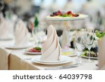 table set for an event party or ... | Shutterstock . vector #64039798