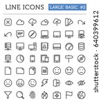 vector line icons for... | Shutterstock .eps vector #640399612