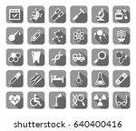 medicine  icons  grey with... | Shutterstock .eps vector #640400416