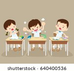 student boy angry shouted at... | Shutterstock .eps vector #640400536