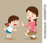 teacher have worry and rampage... | Shutterstock .eps vector #640400722