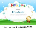 kids summer camp diploma or... | Shutterstock .eps vector #640405378