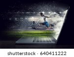 soccer player in action. mixed... | Shutterstock . vector #640411222