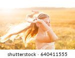 portrait of happy young blond... | Shutterstock . vector #640411555