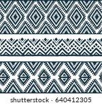 set of line tribal ethnic... | Shutterstock .eps vector #640412305