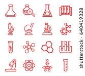 scientific icons set. set of 16 ... | Shutterstock .eps vector #640419328