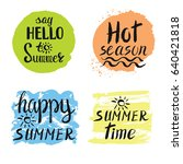 summer calligraphic design... | Shutterstock .eps vector #640421818