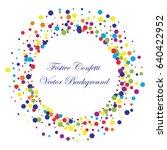 festive colorful hexagon... | Shutterstock .eps vector #640422952