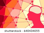 silhouette of a man's head.... | Shutterstock .eps vector #640434055