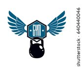 bodybuilding weightlifting gym... | Shutterstock .eps vector #640440046