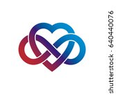infinite love concept  vector... | Shutterstock .eps vector #640440076
