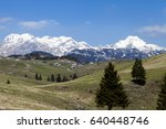 beautiful view on herdsman...   Shutterstock . vector #640448746