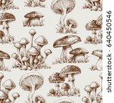 mushroom seamless pattern | Shutterstock .eps vector #640450546