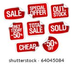 set of stickers for best stock... | Shutterstock .eps vector #64045084