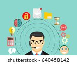 business customer care service... | Shutterstock .eps vector #640458142